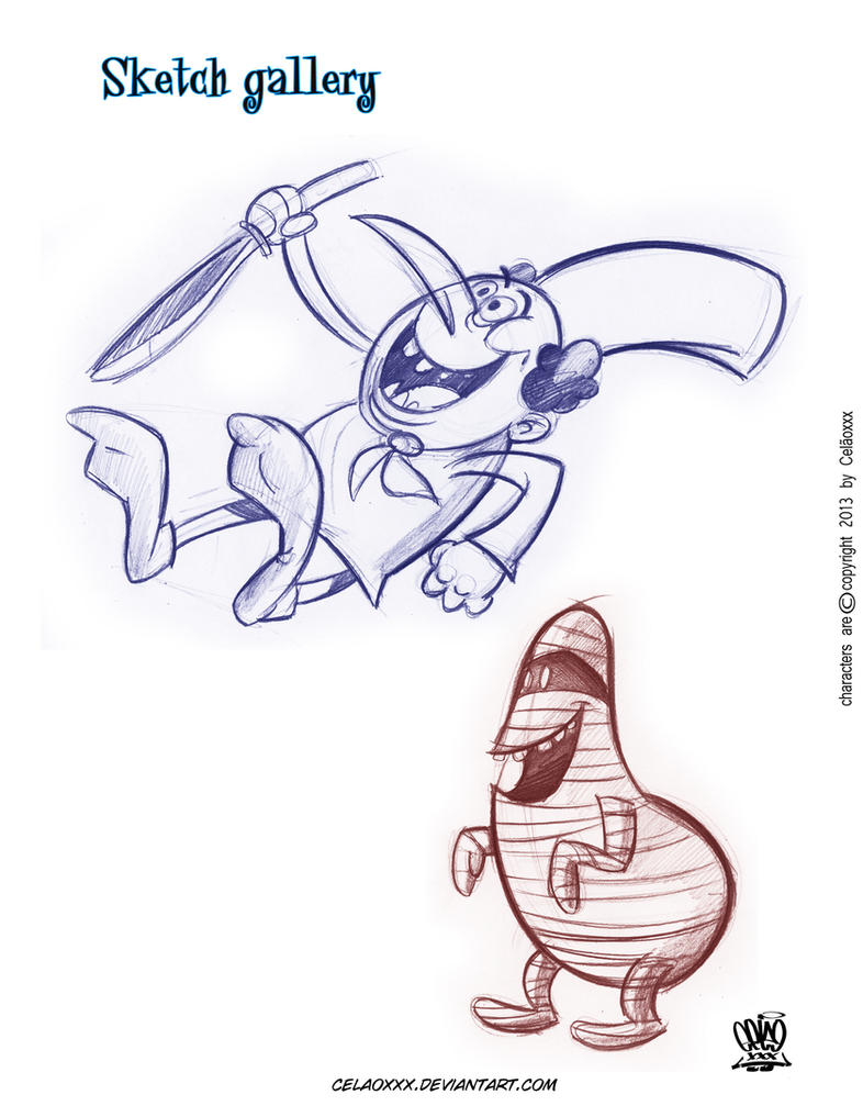 Sketch cartoons by celaoxxx