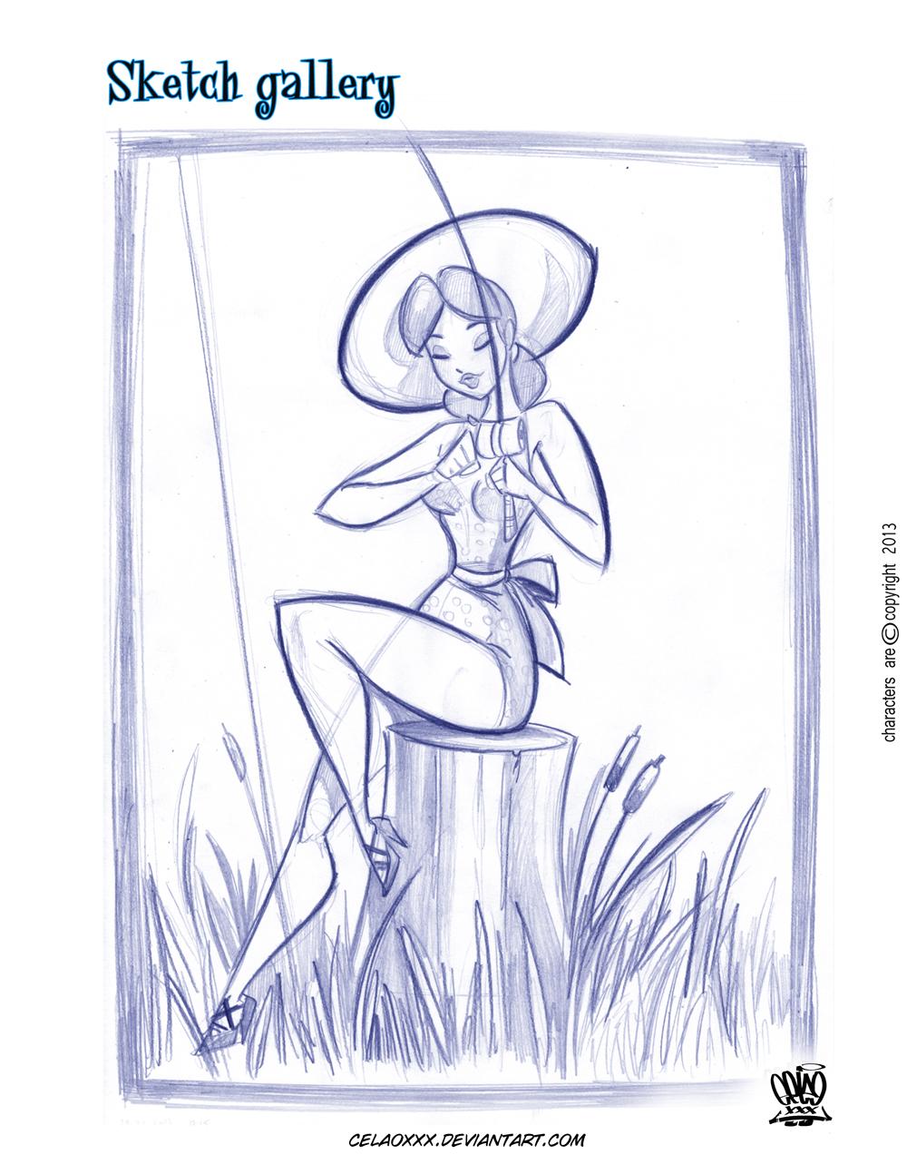 Pin Up sketch by celaoxxx