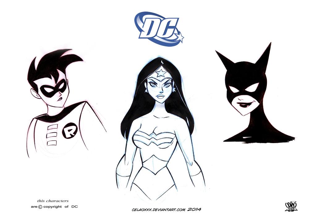 character design DC comics by celaoxxx