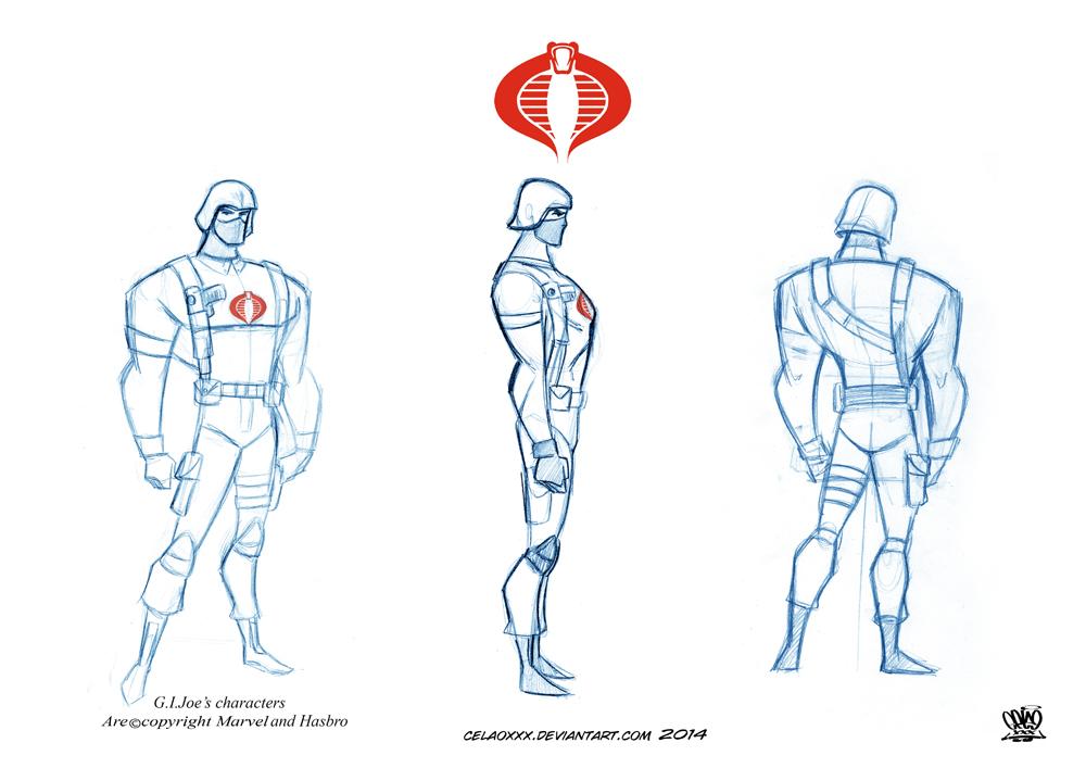 Character Design Sketchbook : Character design sketch cobra soldier by celaoxxx on