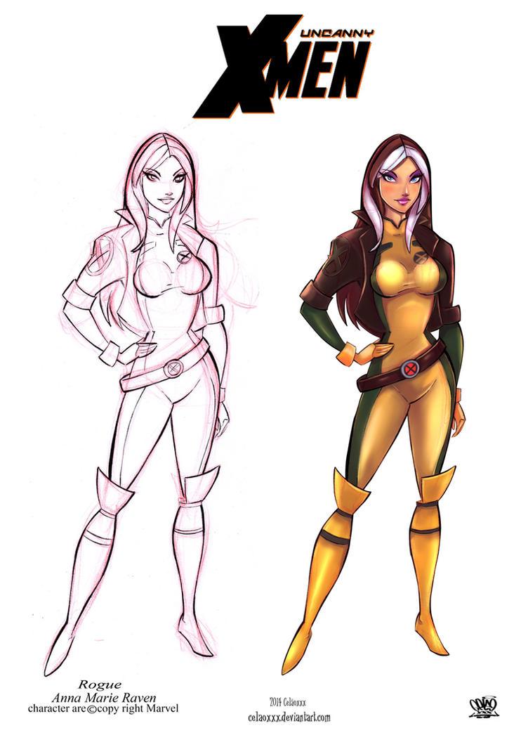 Rogue Anna Marie Raven by celaoxxx