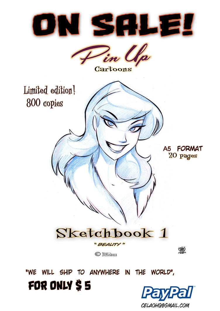 Pin up cartoon book for sale One dollar by celaoxxx