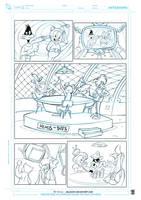 Duck dodgers comic page by celaoxxx