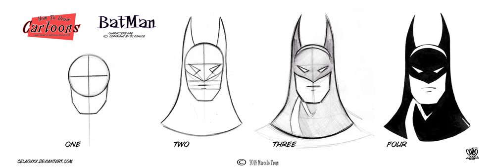 Batman Step By Step Head 2 by celaoxxx