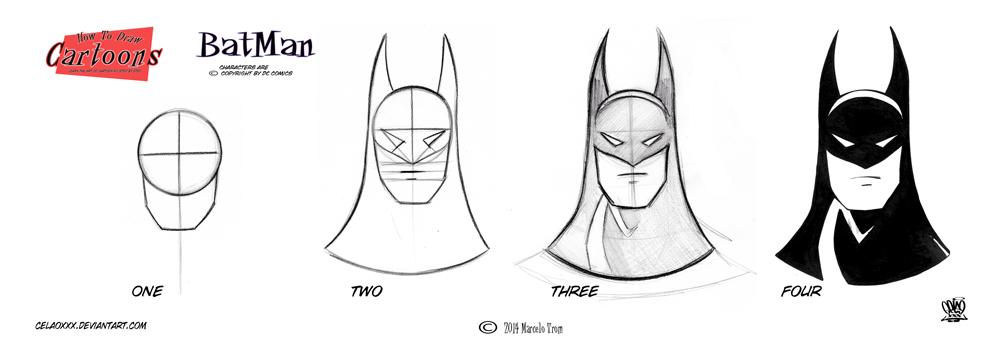 Batman Step By Step Head 2 by celaoxxx