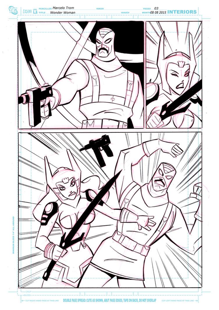 Wonder Woman comic page 3 by celaoxxx