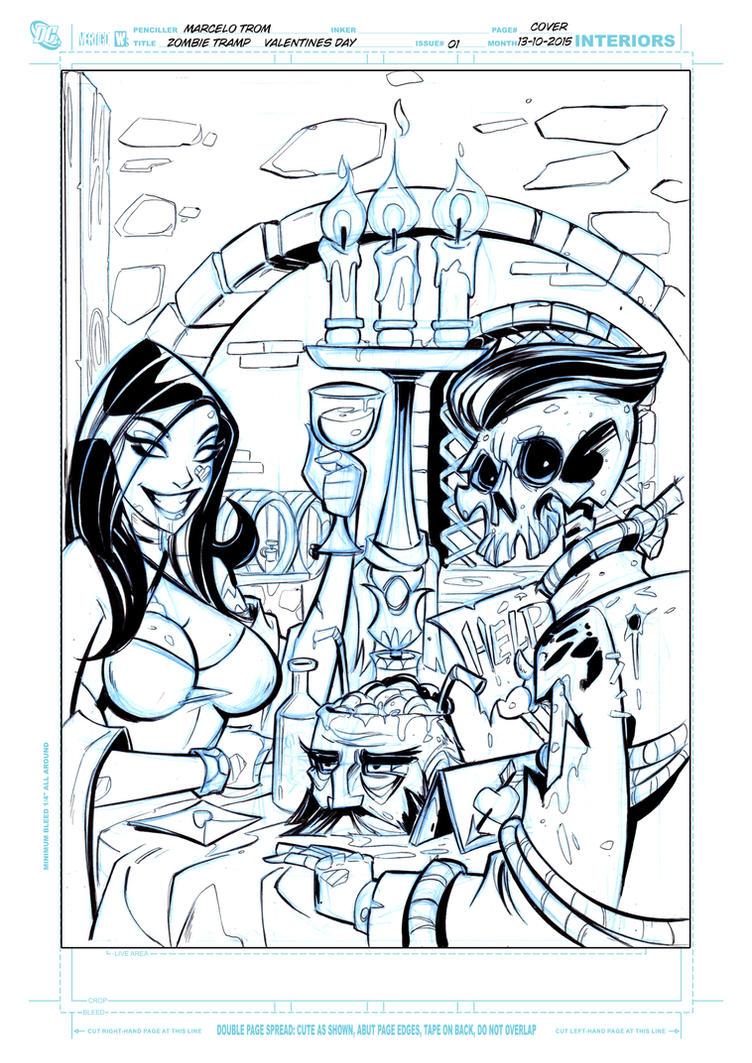 Zombie Tramp Valentine days cover 2 by celaoxxx