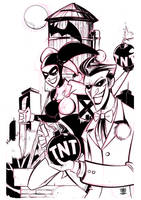 Joker and Harley Quinn by celaoxxx