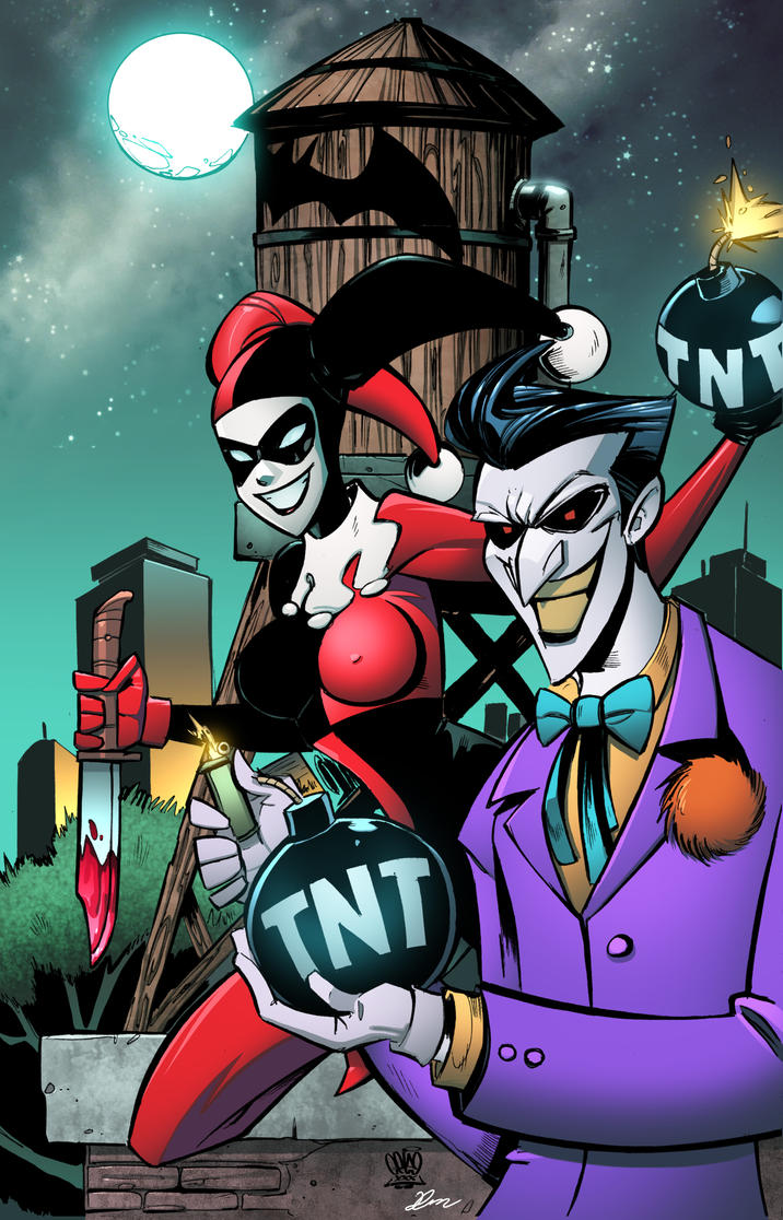 Harley Quinn and Joker by celaoxxx