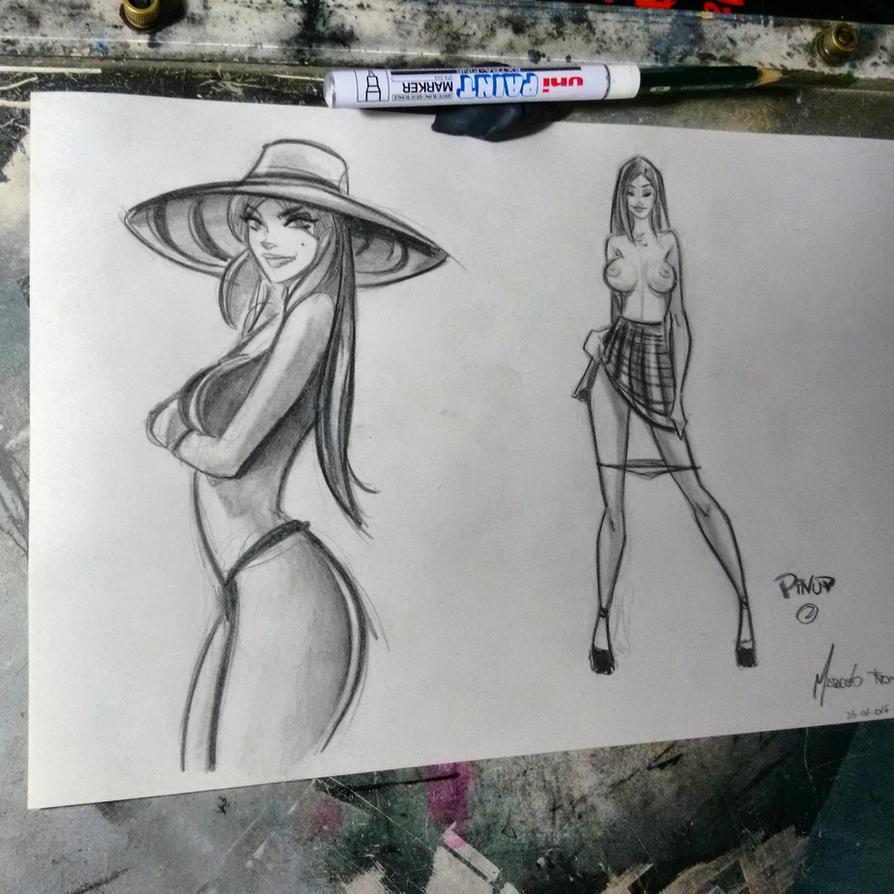 Sketch girls by celaoxxx