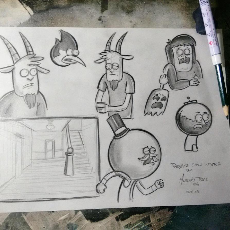 Regular show sketch by celaoxxx