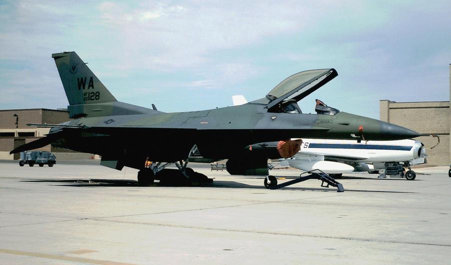 Lockheed Martin F-16 Fighting Falcon   ( caza polivalente monomotor USA ) 83_1128_as_a_422_lizard_jet_by_f16crewchief-d3hmmhr