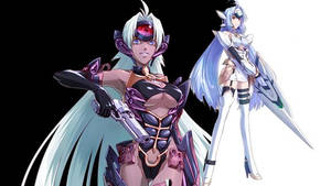 KOS-MOS and T-elos from Project X Zone