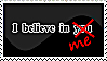 I believe in me Stamp by pitto-stamps