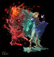 Link Zonai Hand and Ganondorf King of Gerudo
