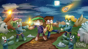 Minecraft Background - Zombie Invasion