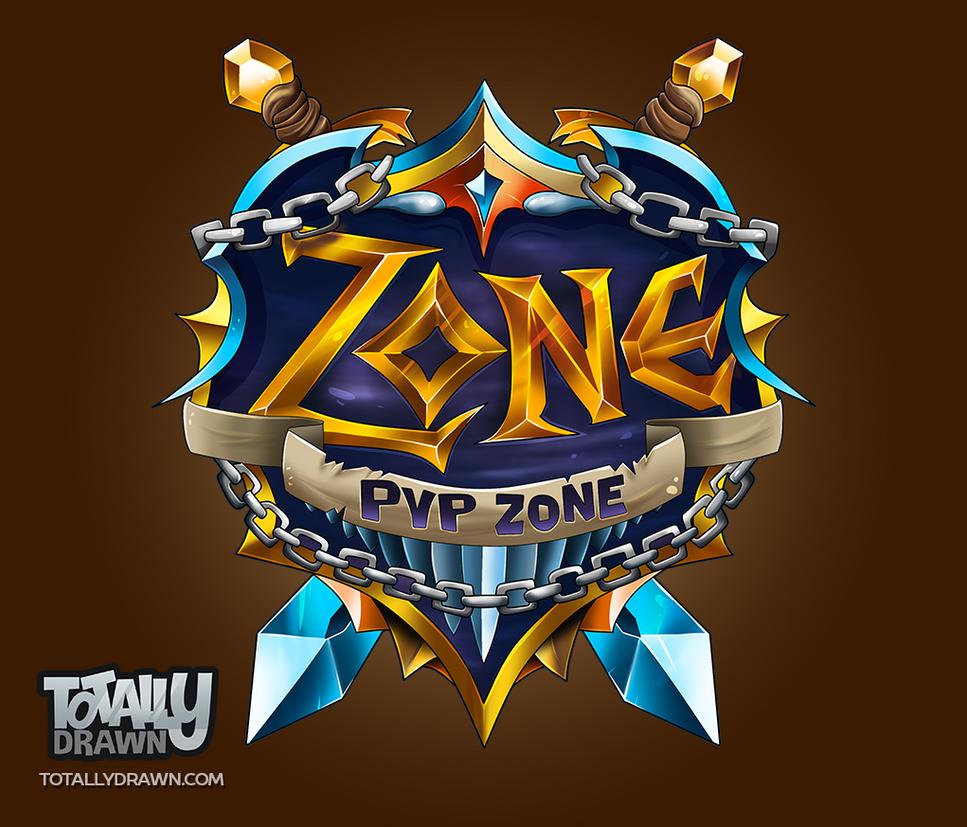 Minecraft server logo pvp zone by totallyanimated on - Pokemon logo minecraft ...