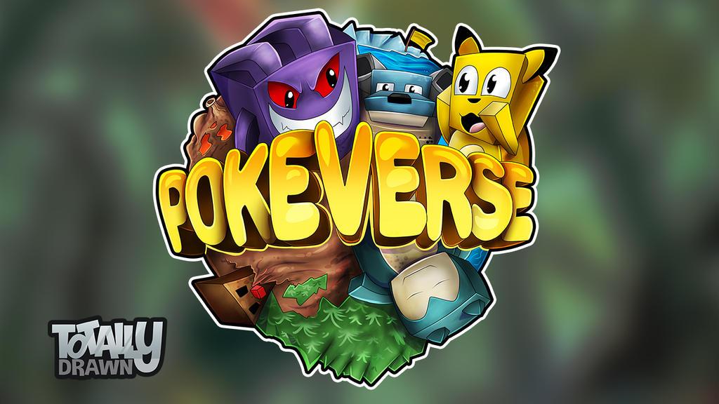 Minecraft server logo pokeverse pokemon style by - Pokemon logo minecraft ...