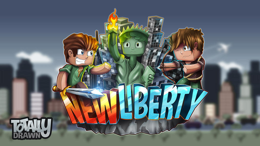 Minecraft server logo new liberty by totallyanimated on - Pokemon logo minecraft ...