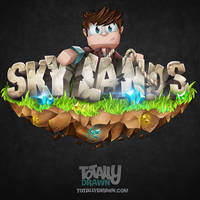 Minecraft Server Logo - SkyLands Art