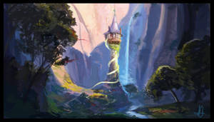 Tangled Tower - Painting