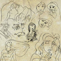 Disney Sketches by nataliebeth