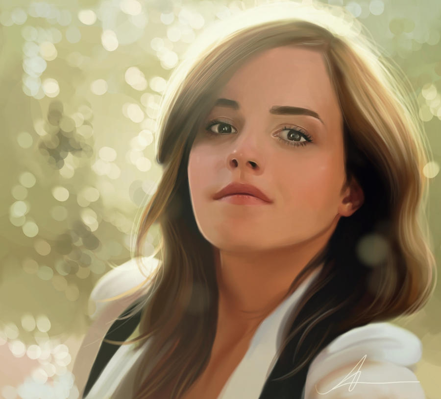 Emma Watson - Digital Painting by nataliebeth