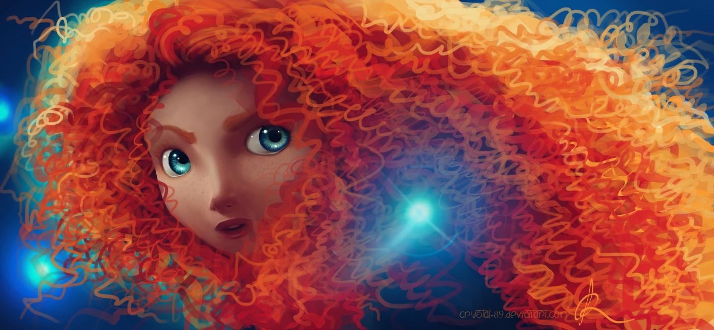 Digital Painting +Video - Merida ('Brave')