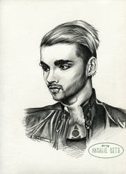 Bill Kaulitz Pencil Sketch by nataliebeth