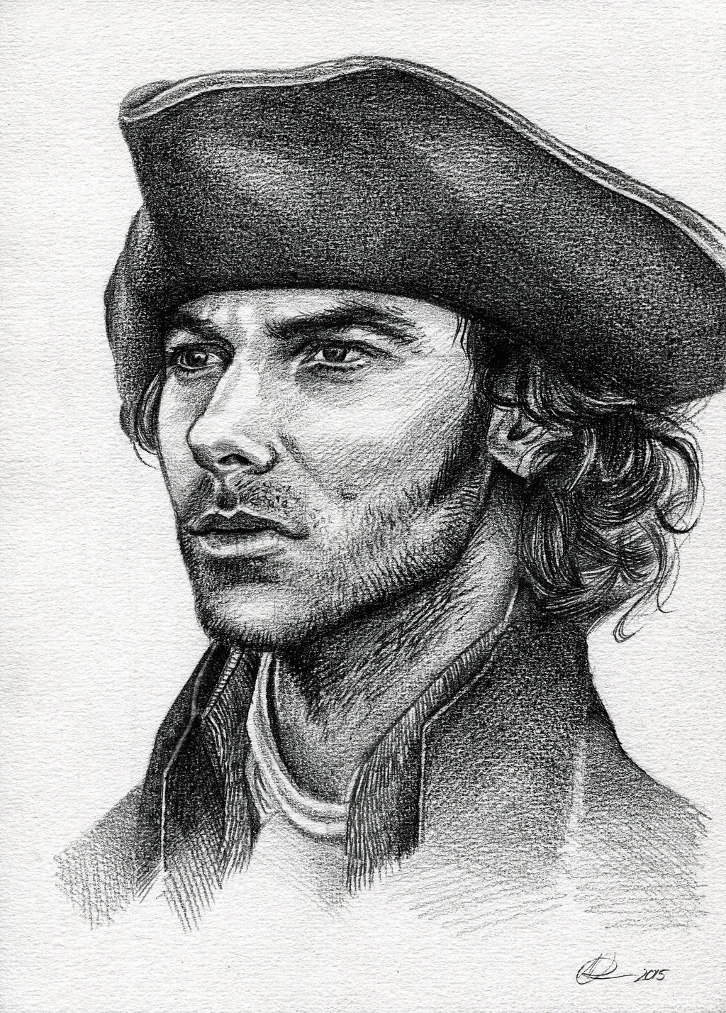 Ross poldark pencil drawing tutorial by nataliebeth