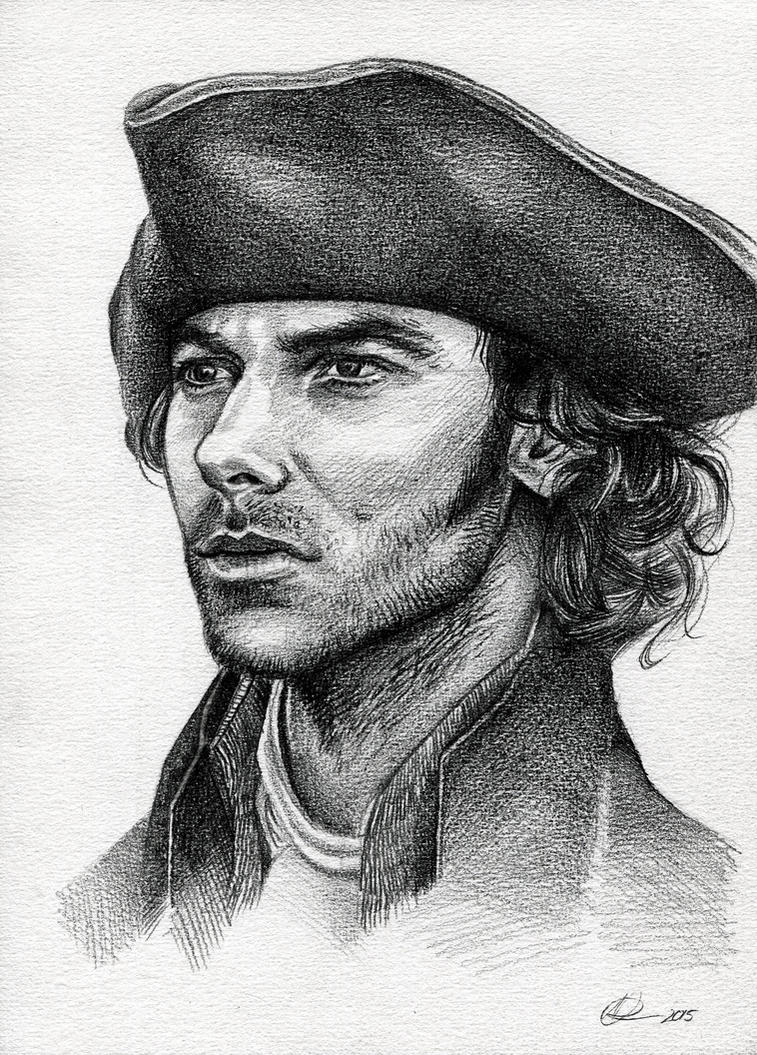 Ross Poldark Pencil Drawing + Tutorial by nataliebeth