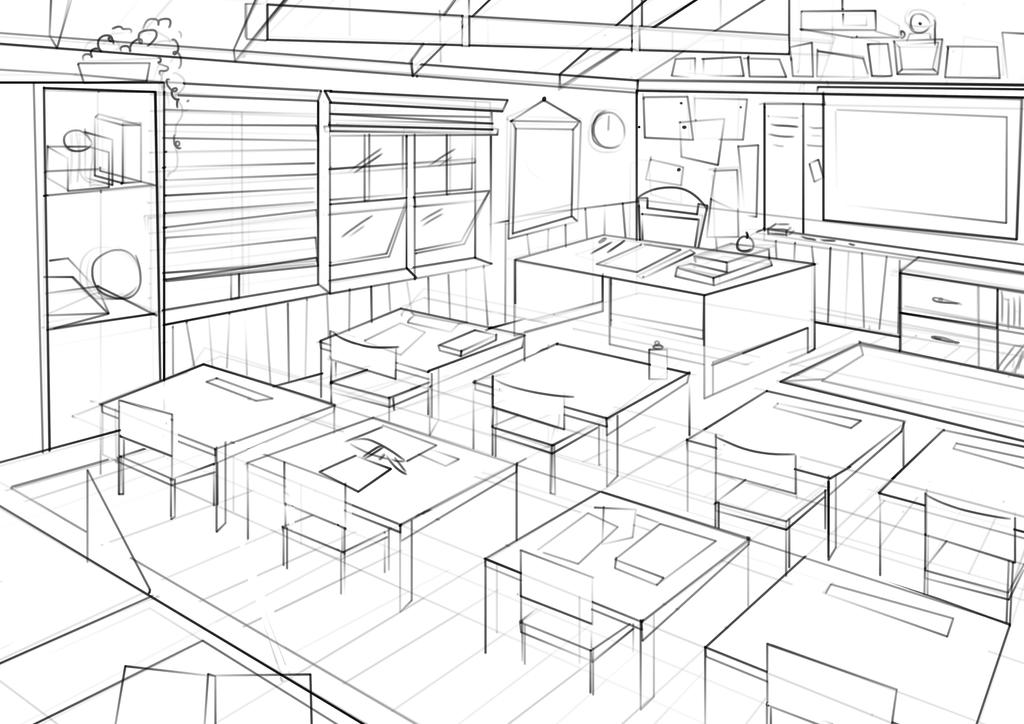 Classroom Design Sketch ~ Classroom concept art by nataliebeth on deviantart
