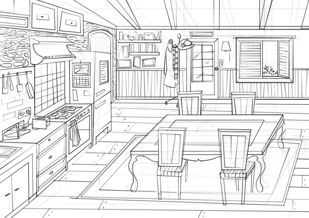 Kitchen Concept Art by nataliebeth
