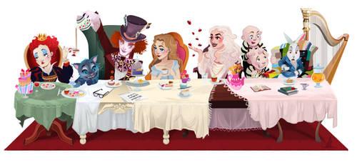 Alice in Wonderland - Digital Painting by nataliebeth