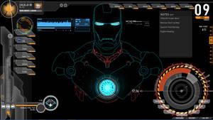 Rainmeter theme-Iron Man