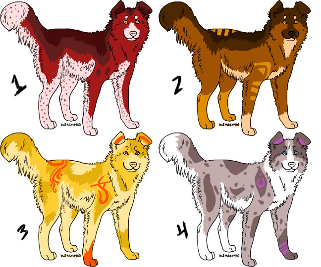 Dog adoptables-3 Available by taikunfoo