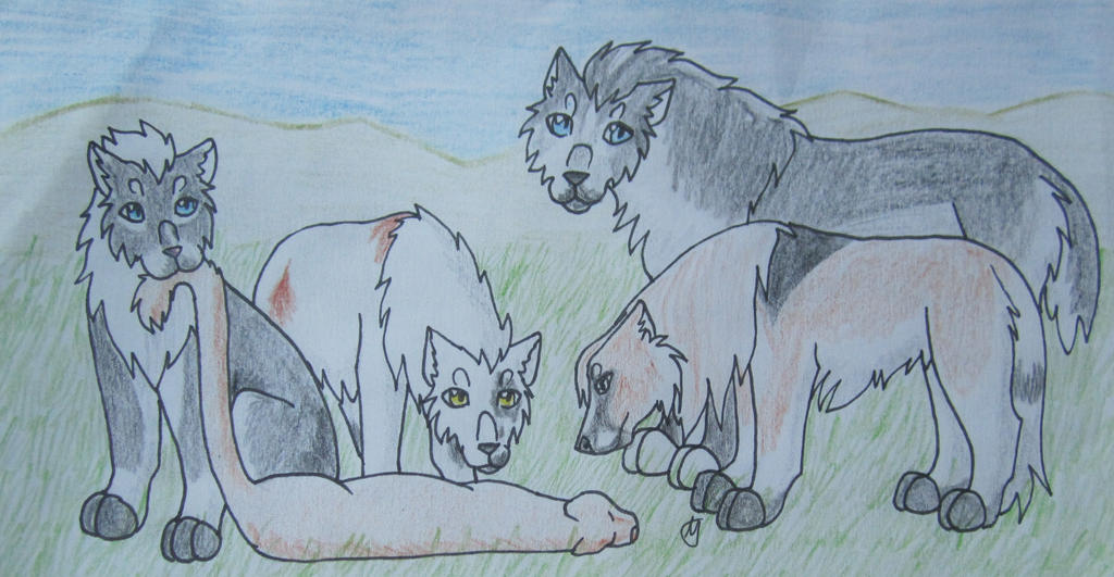 Hunting-Legolas, Iduna, Reyna, Kras by taikunfoo