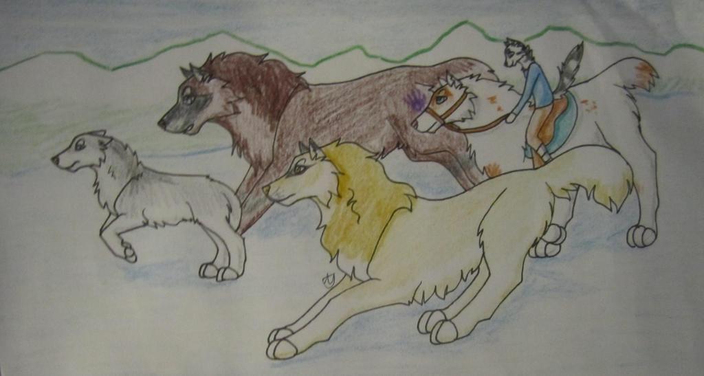 coyote hunt 1 by taikunfoo on deviantart