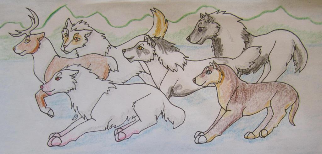 Caribou Hunt 1 by taikunfoo
