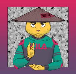 Rice Farmer Cat