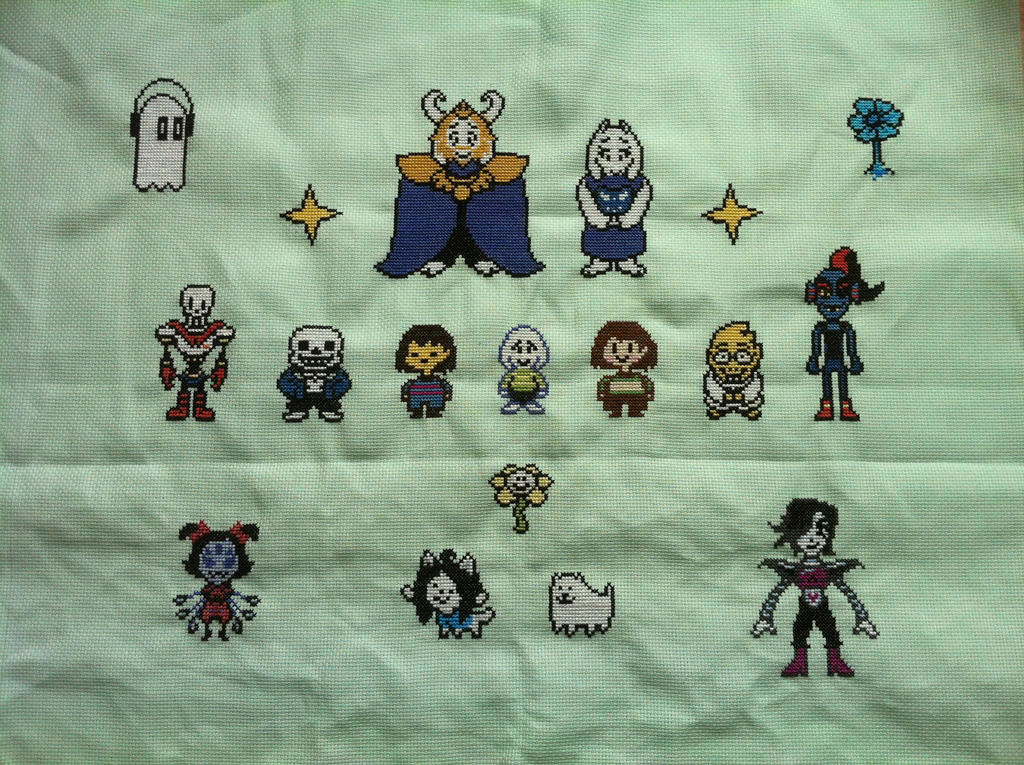 Undertale main characters by Gabzcr