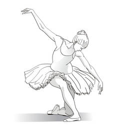 Ballet curtsey by SergeiGolyshev
