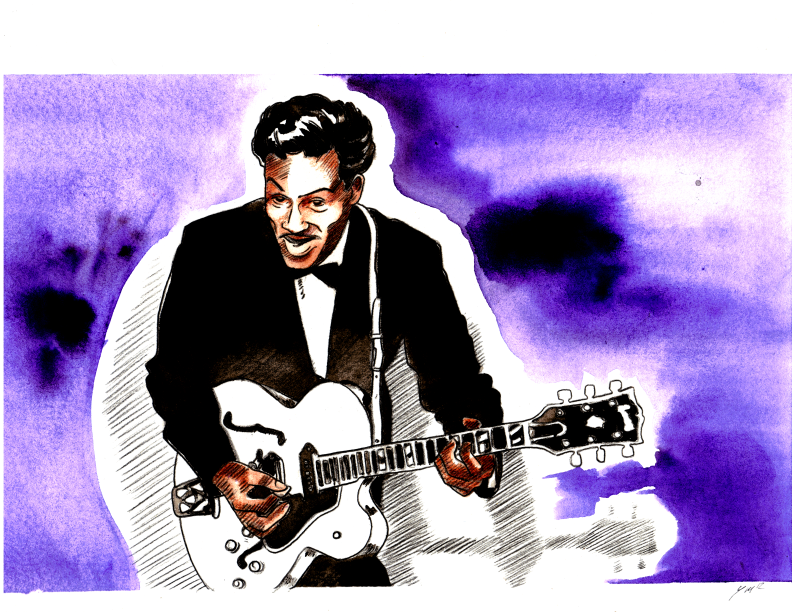 Chuck Berry by yokomolotov