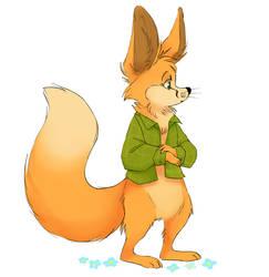 shy fox by howmeadog