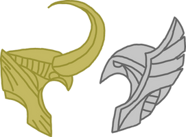 Helmet - Thor and Loki by Dragon-Flash