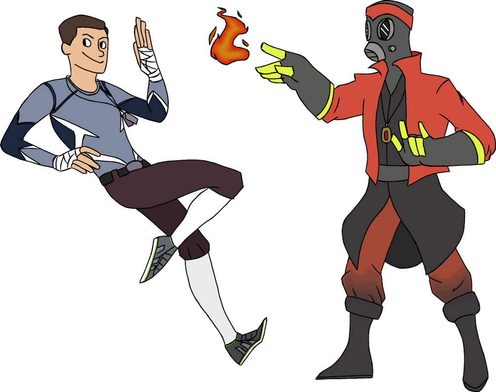 Avengers - Pyro and Scout by Dragon-Flash