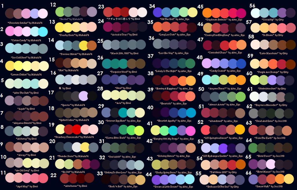 Color Palette Challenge By Justanotheraotfan On Deviantart