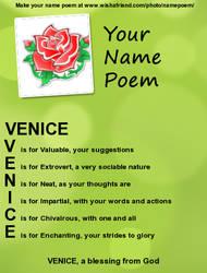Venice's Name Poem!