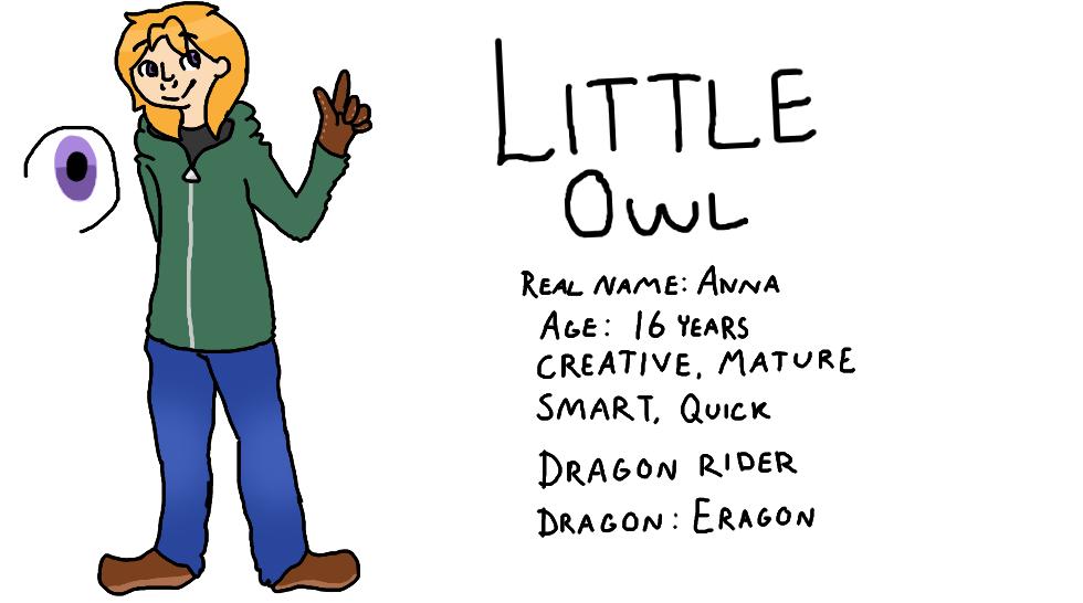 Little Owl ref by MynameisDragon
