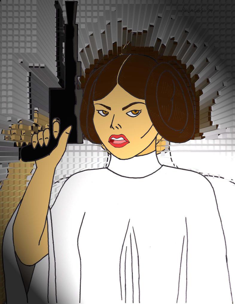 Princess Leia by Jojorozian